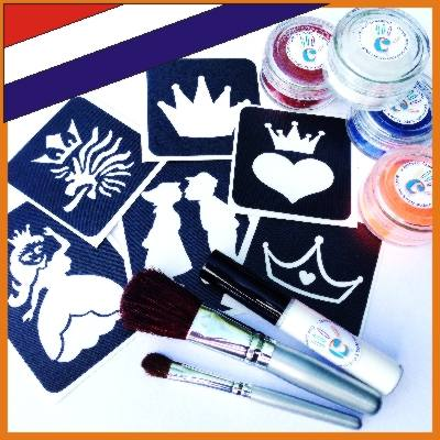 Glitter Tattoo set Koningsdag