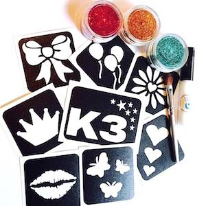 Girlsband Glitter Tattoo Set