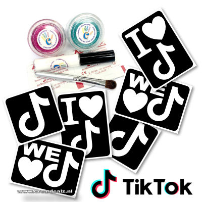 Tik Tok Glitter Tattoo Set